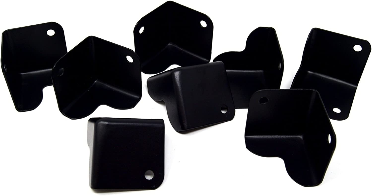 Black Metal Corners Protector Guard for Front of PA//DJ Speaker AMP Cabinets