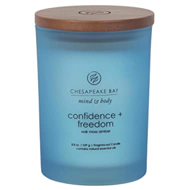 Chesapeake Bay Candle Scented Candle, Confidence + Freedom (Oak Moss Amber), Medium