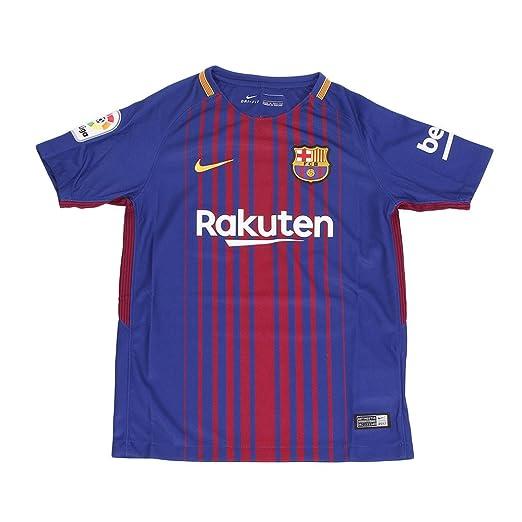 1a16e3b2938 Amazon.com: NIKE FC Barcelona Home Jersey 2017/18 - Kids: Clothing