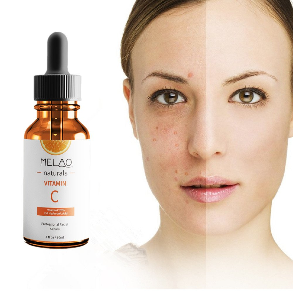Vitamin C Serum with Vitamin E Hyaluronic Acid & Breakthrough Anti Wrinkle Complex 98% Natural Reduce Acne Scars Anti Aging Serum Hydrating Nutritional for Face & Eyes,1 fl.oz (30ML)