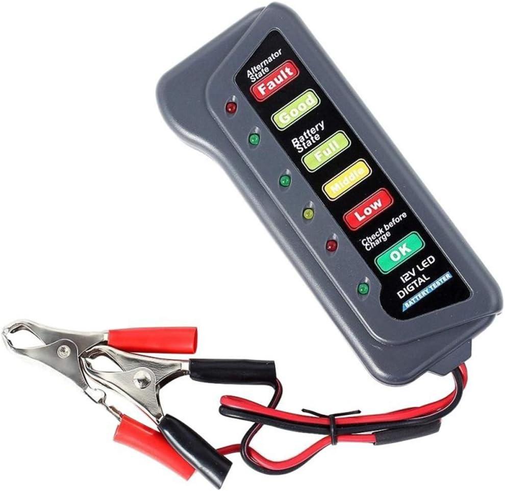 heacker Carro del Coche de 12 voltios Tester batería Indicador de luz LED Display Motocicleta Battery Checker
