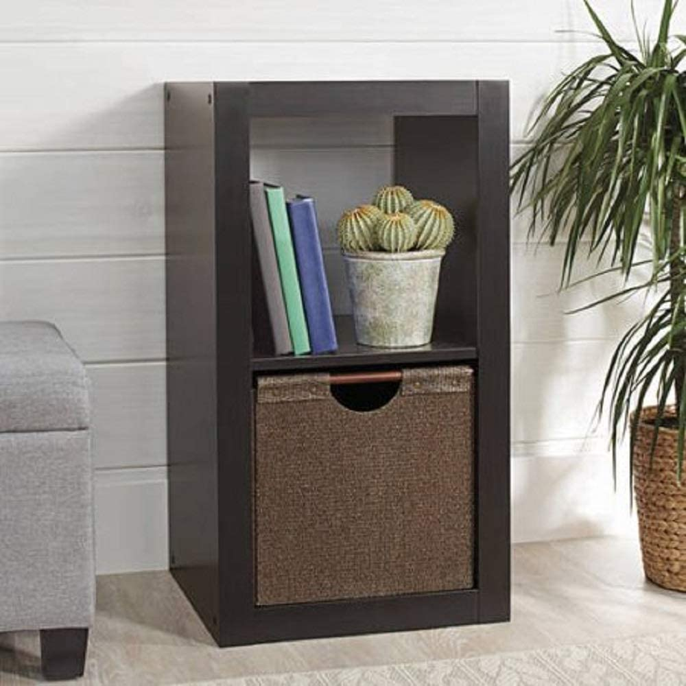 Better Homes and Gardens.. Bookshelf Square Storage Cabinet 4-Cube Organizer (Weathered) (White, 4-Cube) (Espresso, 2-Cube)