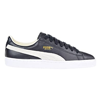 Puma Basket Classic Men s Shoes Black White 351912-02 (11.5 D(M) US ... 28b058af7