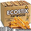 EasyGoProducts Eco-Stix Fatwood Fire Starter Kindling Firewood Sticks – Bulk Packaged