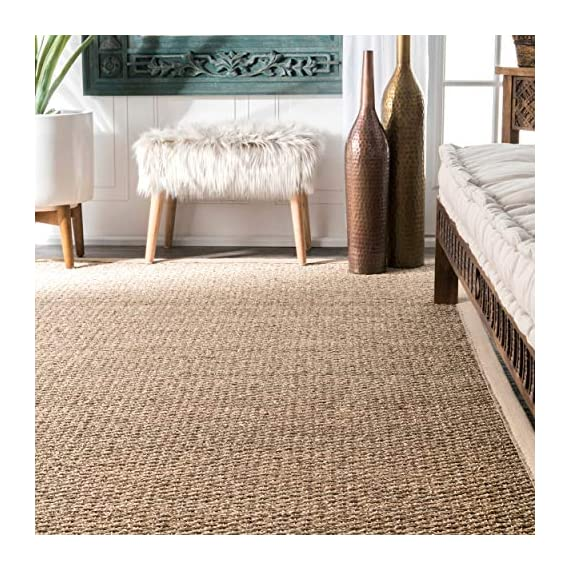 "nuLOOM Elijah Seagrass Natural Runner Rug, 2' 6"" x 8', Beige - Made in China PREMIUM NATURAL FIBERS: This rug is crafted with sustainable 100% Seagrass, a fiber that perfects a coastal-cool look SLEEK LOOK: Doesn't obstruct doorways and brings elegance to any space - runner-rugs, entryway-furniture-decor, entryway-laundry-room - 610D emXK L. SS570  -"