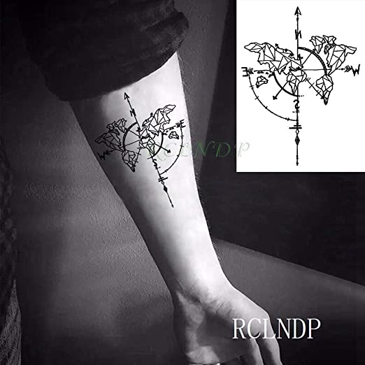 Yyoutop Impermeables e Tattoo Stickers Fawn Deer Head Tatto ...
