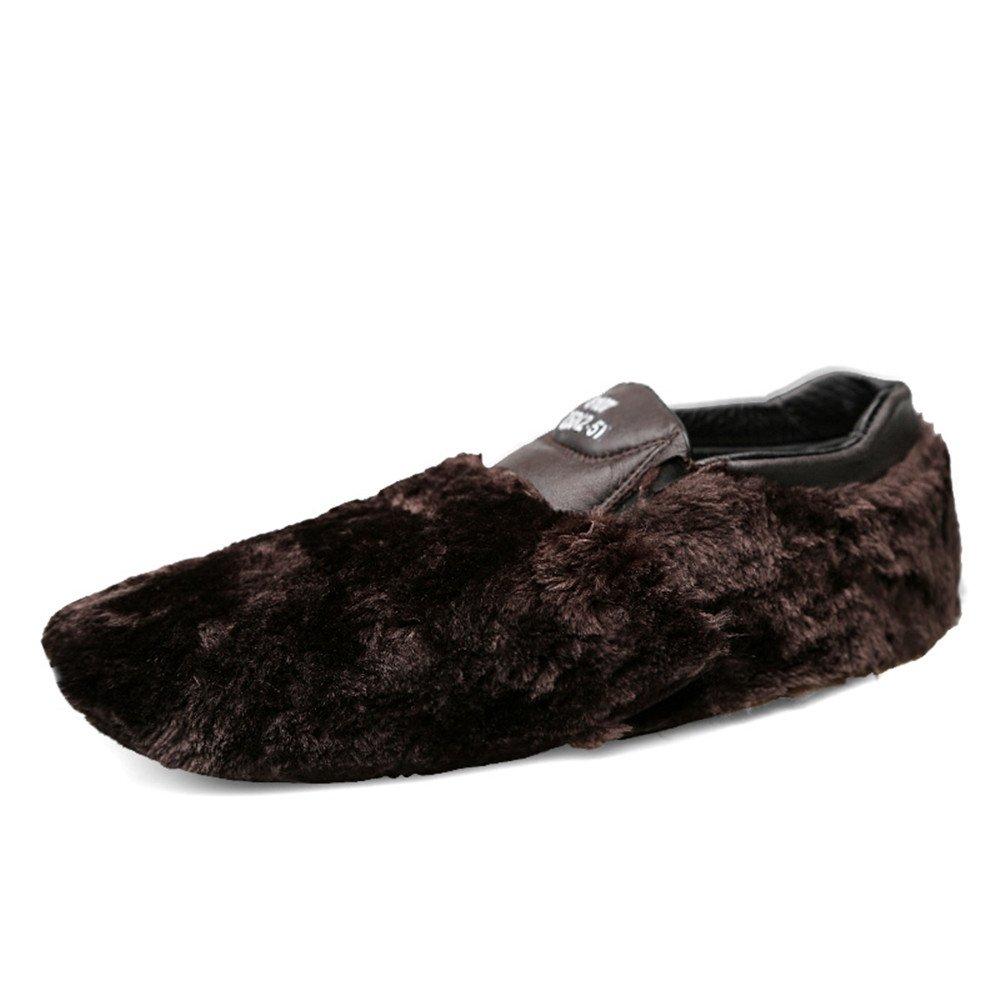 Xiazhi schuhe, Herren Mokassins Leder (Farbe Hollywood Driving Style Loafer, (Farbe Leder : schwarz Velvet, Größe : 39 EU) Braun Velvet f3c907
