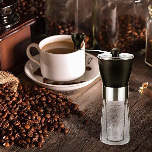 VANVENE Manual Coffee Grinder, Coffee Bean Grinder, Adjustable Hand Grinder, Ceramic Conical Burr Mill, Mini Portable Home Kitchen Travel Coffee Bean Grinder/Coffee Mill for Precision Brewing by VANVENE (Image #6)
