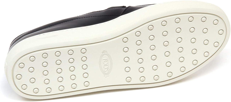 F6496 Sneaker Donna Black/White Tod'S Scarpe Frangia Slip on Shoe Woman Nero Bianco