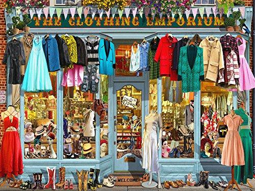 Vermont Christmas Company The Clothing Emporium Jigsaw Puzzle 550 Piece