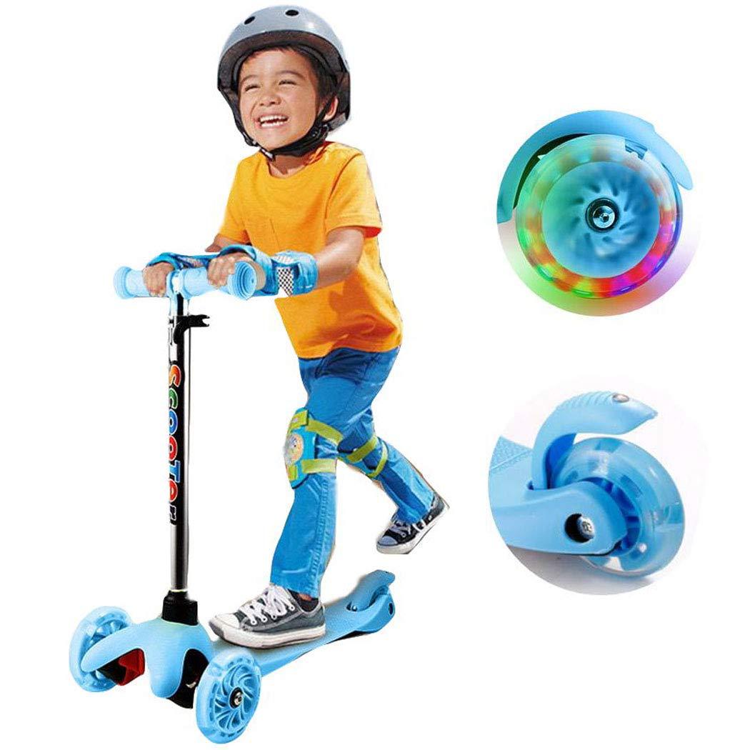 Amazon.com: Patinete para niños con 3 ruedas con luz LED ...