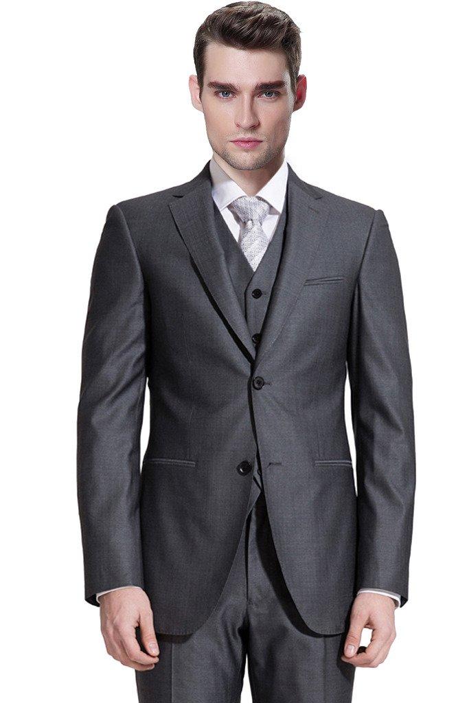 Hanayome Men's 3 Pieces Outwear Two Bottons Groom Wedding Suit Vest & Pants U69 U69USA1