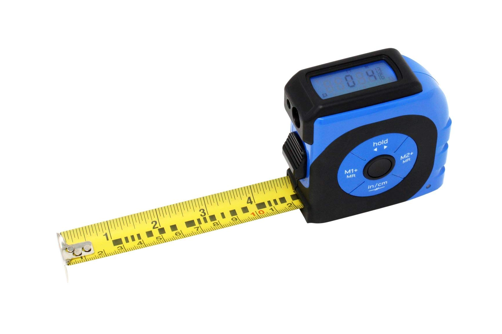 K Laser Tape Measure with backlit digital screen, a combination of a laser measure and a tape measure 165ft