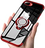 ATUSIDUN(アトストン)iPhone ケース リング 滑り防止 耐衝撃 iPhone 7plus / iPhone 8plus 赤