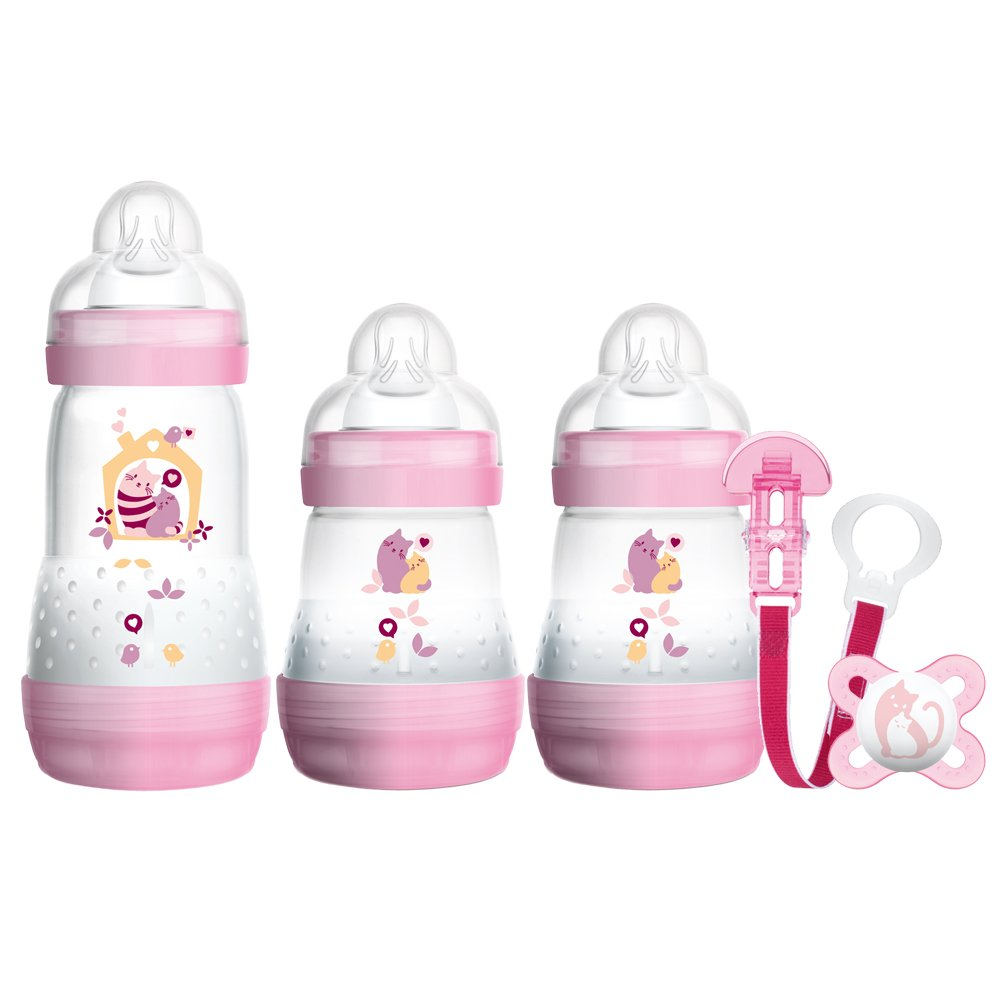 MAM Welcome to The World Set includes Bottles, Soother and Clip (Pink) Mam UK Imports GP0009G Accessory Consumer Accessories
