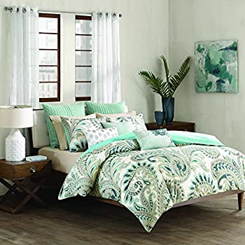 Amazon Com Ink Ivy Mira 200tc Comforter Set King Blue