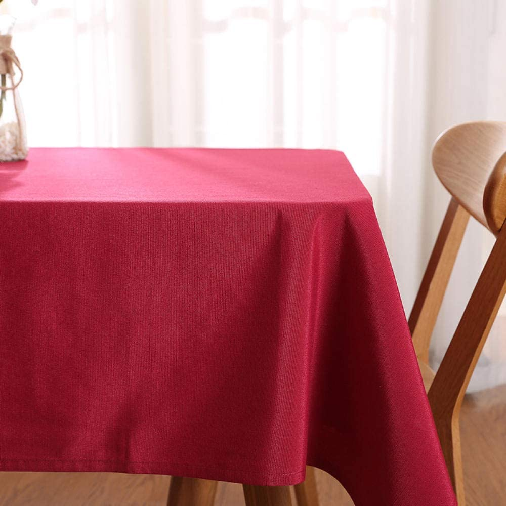 AKSHOME Waterproof Tablecloth Solid Color Dining Table Rectangular Tablecloth Polyester Rectangular Dustproof Anti-Wrinkle Party White 70X70cm//27.5X27.5inches