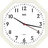 Relógio de Parede Oitavado 22 cm, Bell's, Branca