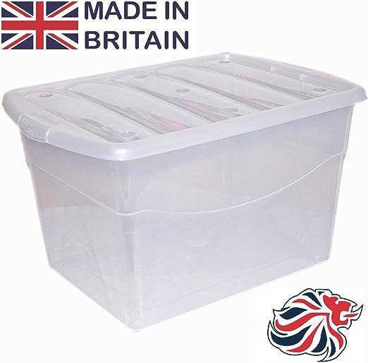 CrazyGadget®, Caja contenedor de plástico Extragrande, 100 L ...