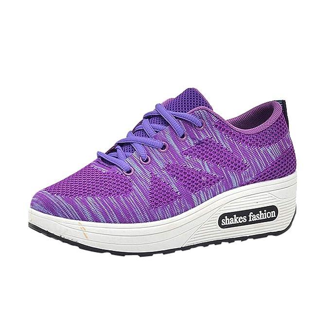 Zapatos para Mujer, 💕 RETUROM 2018 Zapatillas Planas Tacón Alto Zapatos Ocasionales De Las Mujeres Talones de Mujeres Zapatos Salvajes Mujeres de Ocio ...