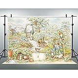 EOA 7x5FT Peter Rabbit Backdrop for Baby Shower Kids Birthday Children Cartoon Background Photography YouTube Video…