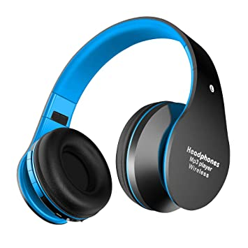 Alitoo Auriculares Bluetooth de Diadema Inalámbricos, Wireless Headphones Cascos Bluetooth Plegable con Micrófono Manos Libres y Hi-Fi Sonido Estéreo (Azul ...