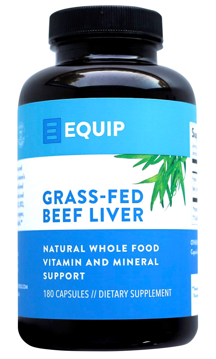 Beef Liver Capsules Iron Supplement: Vital Supplements from Ancestral Source Best as Natural Grass Fed Desiccated Liver Pills. Supports Healthy Blood Builder w Grassfed Organ Meat Heme Iron Folate B12 by Equip