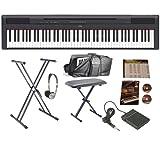 Yamaha P115 Black Digital Piano Mega Bundle