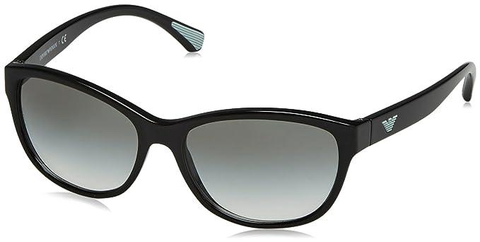 Emporio Armani EA4080 50178E Black EA4080 Wayfarer Sunglasses