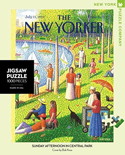 New York Puzzle Company - New Yorker Sunday Afternoon in Central Park - 1000 Piece Jigsaw Puzzle