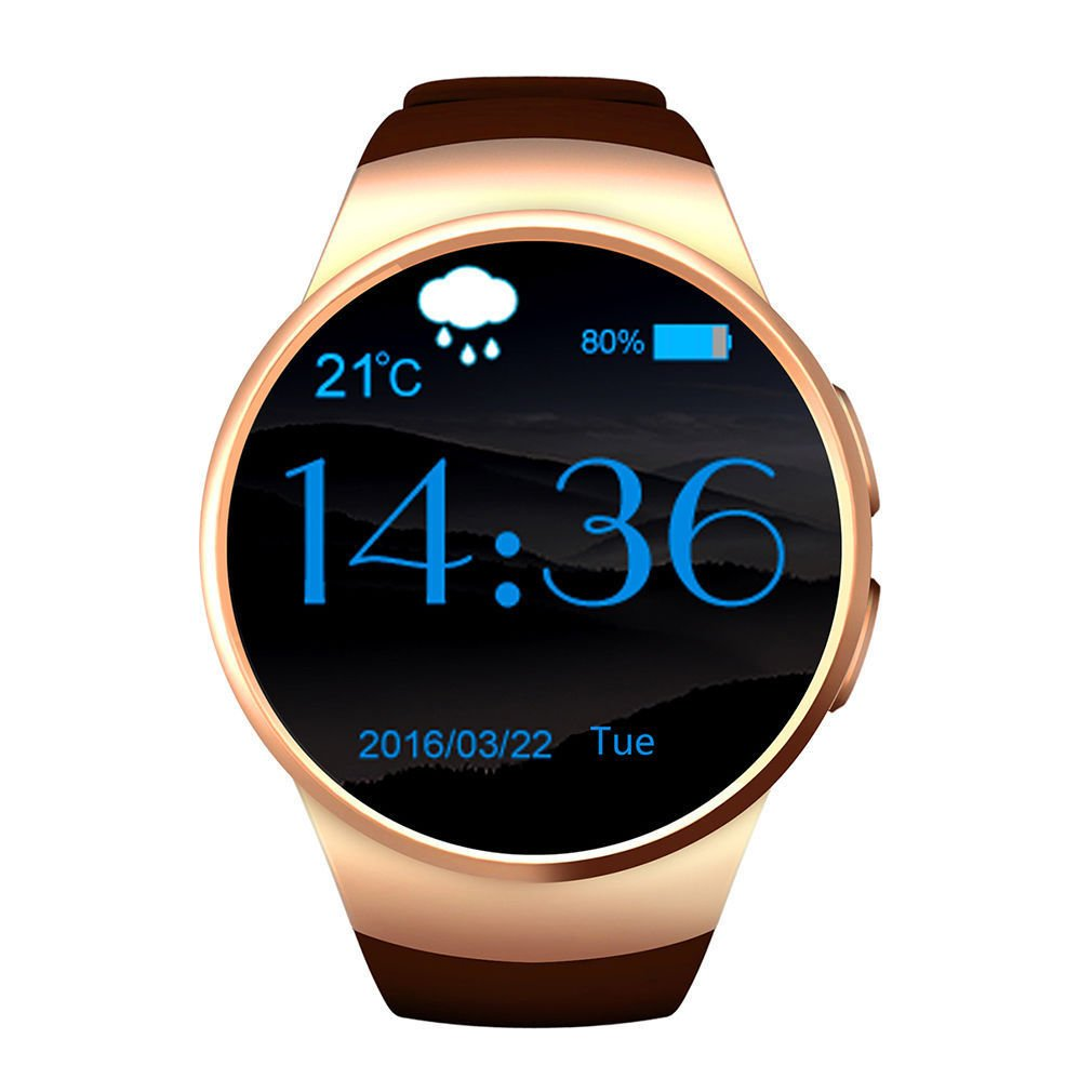 Buibao Bluetooth Smart Watch Phone KING-WEAR KW18 Sim&TF Card Heart Rate Smartwatch: Amazon.es: Electrónica