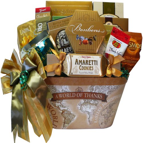 A World of Thanks Gourmet Food and Snacks Gift Basket