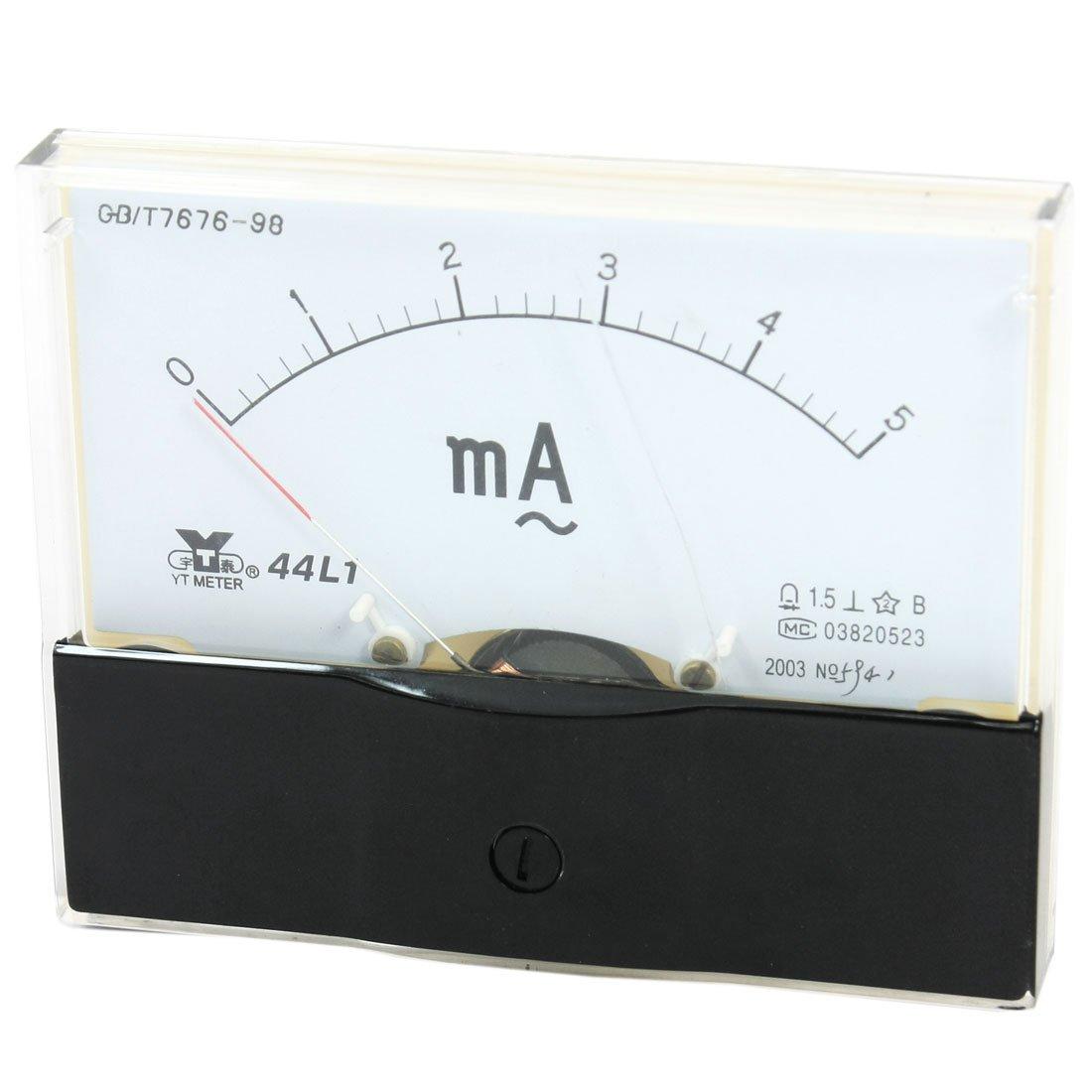 uxcell Measurement Tool Analog Ammeter Gauge AC 0-5mA Measuring Range 44L1