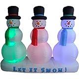 6 Foot Christmas Inflatable Snowman on Snow Yard Garden Decoration