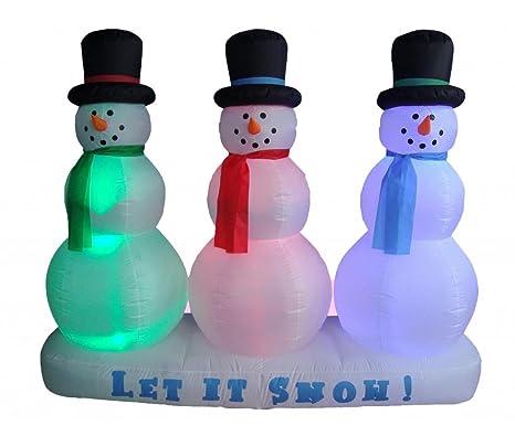 Amazon.com: 6 foot Navidad Muñeco de nieve inflable en la ...