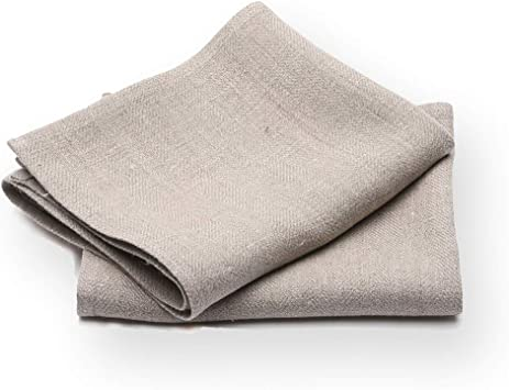 13 x 20 LinenMe Linum Hand and Guest Towels Natural