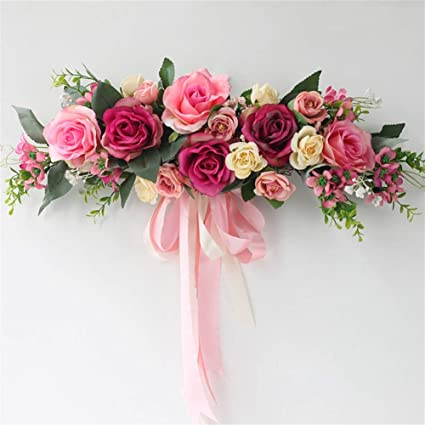 Excellent Liveinu Handmade Floral Artificial Simulation Peony Flowers Garland Wreath Wedding Table Centerpieces For Home Party Decor 21 W X 7 H Pink Red Swag Interior Design Ideas Clesiryabchikinfo