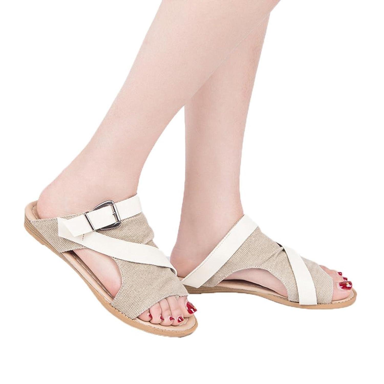 3cb5a6bb 70% OFF OHQ Zapatos para Mujeres Sandalias Dama Chanclas Negro Caqui Beige  MarróN Sandalia para