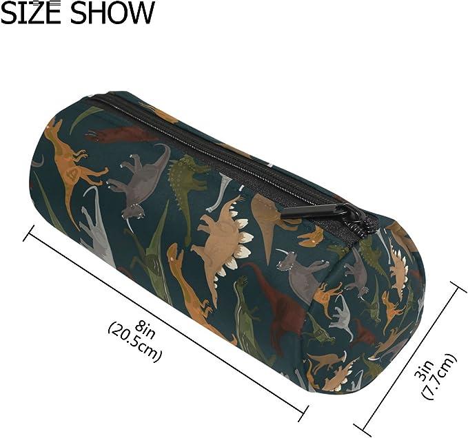 TIZORAX - Estuche para lápices de dinosaurios oscuros, con cremallera, organizador de monedas, cosméticos, para mujeres, adolescentes, niñas, niños: Amazon.es: Oficina y papelería