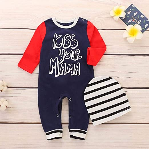Amazon.com: SRYSHKR Toddler Infant Baby Boys Girls Letter Splice ...