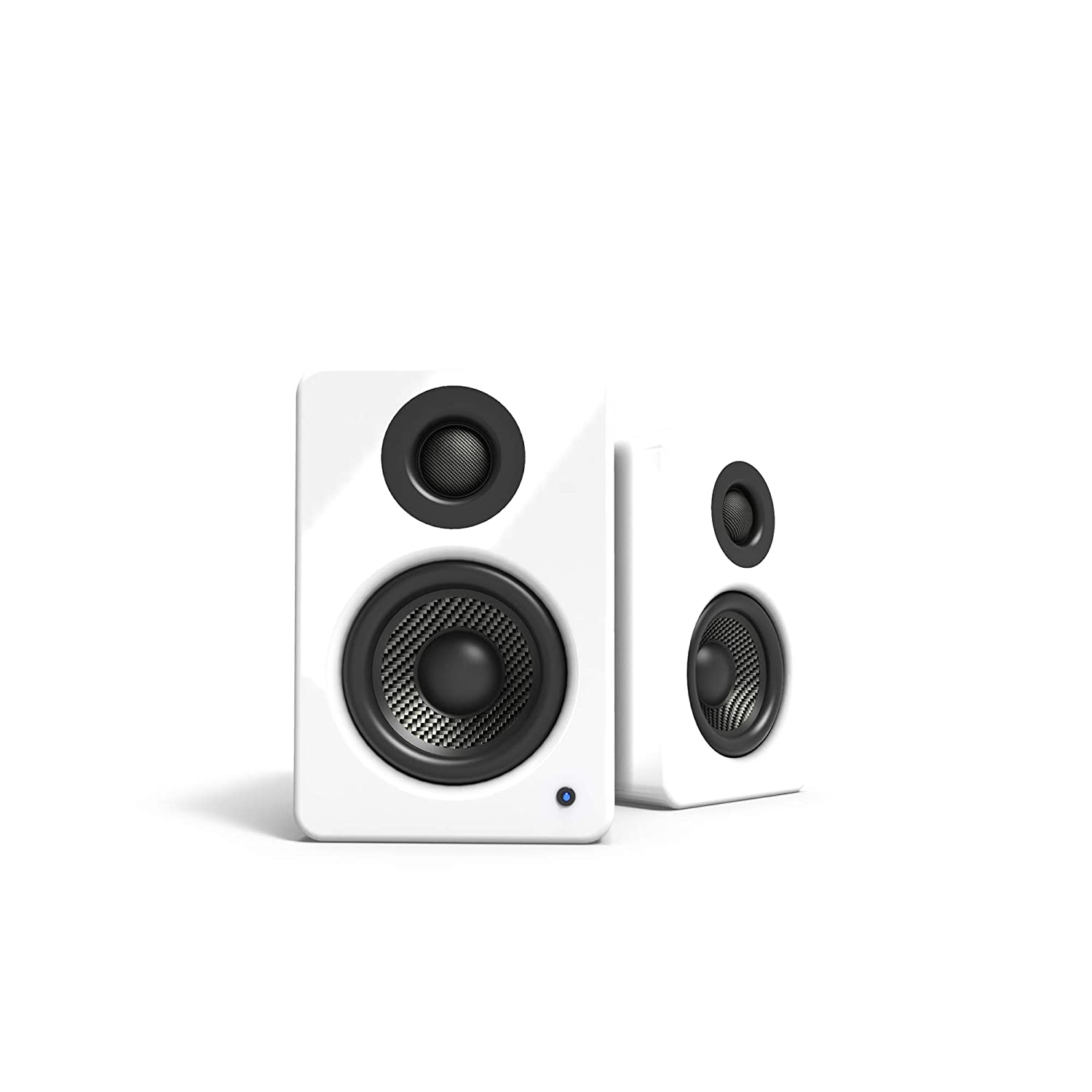 Kanto 2 Channel Powered PC Gaming Desktop Speakers 3 Composite Drivers 3 4 Silk Dome Tweeter Class D Amplifier – 100 Watts – Built-in USB DAC – Subwoofer Output – YU2GW Gloss White