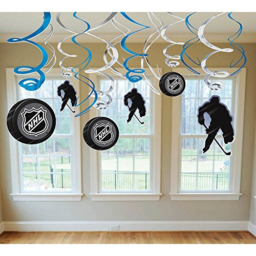 Hockey Puck Costumes (Nhl Hockey Hanging Swirl Decorations (Each))