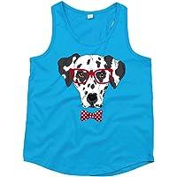Druckerlebnis24 Camiseta de tirantes unisex para niños y niñas con diseño de dálmatas