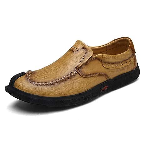 YAN Zapatos de Cuero Ocasionales de los nuevos Hombres 2018 Zapatos de Mocasines del Vestido Zapatos