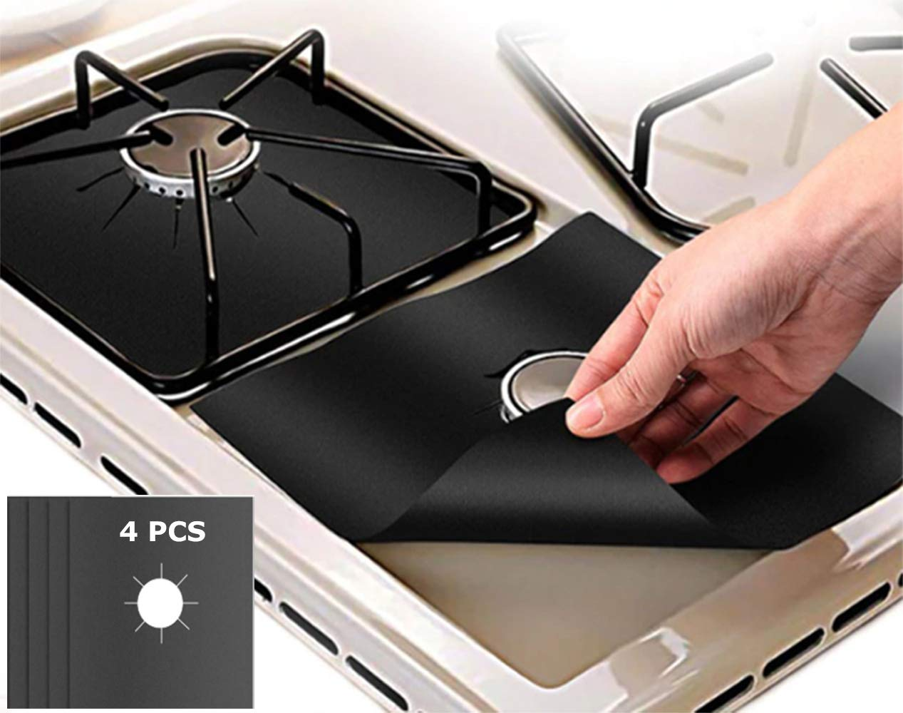 Gas Range Glass Hob or cooker burner cover Gas Stove Burner Cover Reusable Non-stick Stovetop Burner Liners
