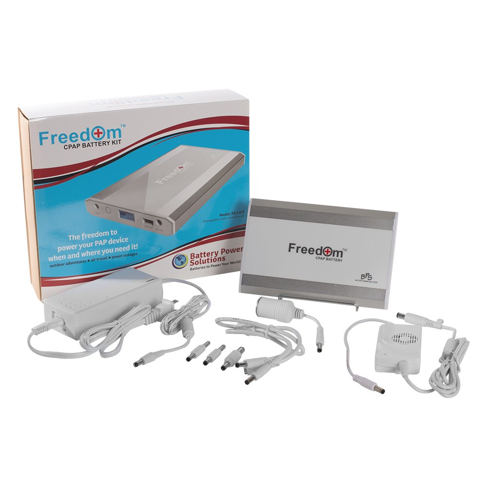 Freedom CPAP Battery Kit for Respironics DreamStation - Number 1 Most Advanced, Longest Lasting CPAP Battery