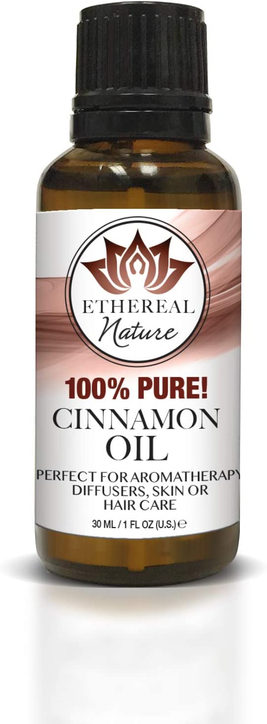 Ethereal Nature 100% Pure Oil, Cinnamon, 1.01 Fluid Ounce