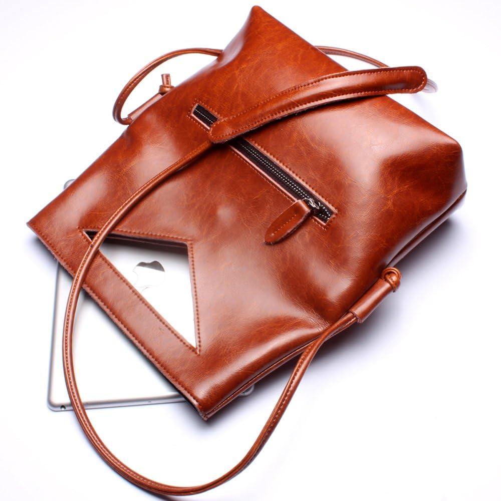 Canalolo Women Minimalist Style Handmade Leather Mini Satchel Shoulder Cross Body Bag