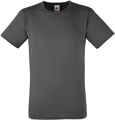 Fruit of the Loom Entallado value-weight Camiseta Algodón Liso Camiseta de manga corta: Amazon.es: Ropa y accesorios