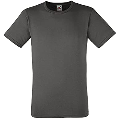c4af231e4301 Fruit of the Loom Fitted Value-Weight T-Shirt Tee Plain Cotton Short Sleeve T  Shirt Top: Amazon.co.uk: Clothing